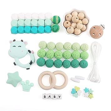 Baby Tete Baby Zahnen Spielzeug Achteckige Silikon Perlen Schnuller