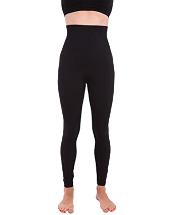 78a815f1f2be9 Homma Activewear Thick High Waist Tummy Compression Slimming Body Leggings  Pant (Small, Black)