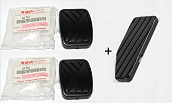 Acelerador + Freno + Pedal de embrague de goma Pad Set (3 piezas) - 49751-58J00, 49451-60B00: Amazon.es: Coche y moto