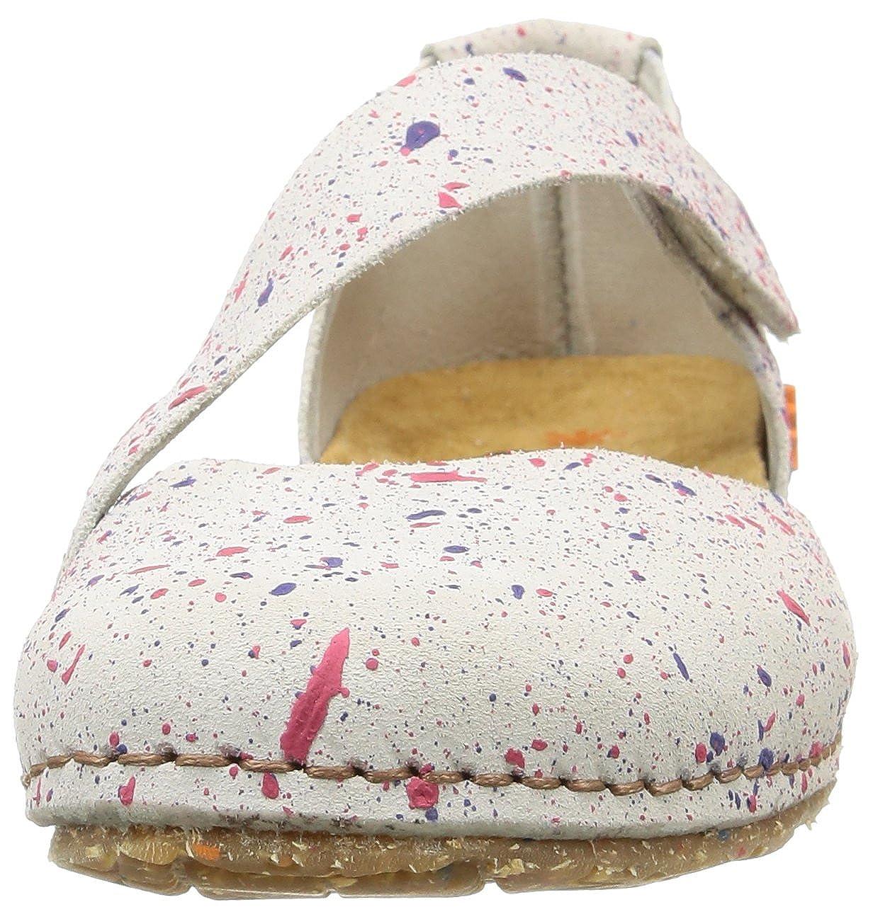 ART Multicolor CRETA Damen Geschlossene Sandalen Multicolor ART (Dotted Weiß) f354e2