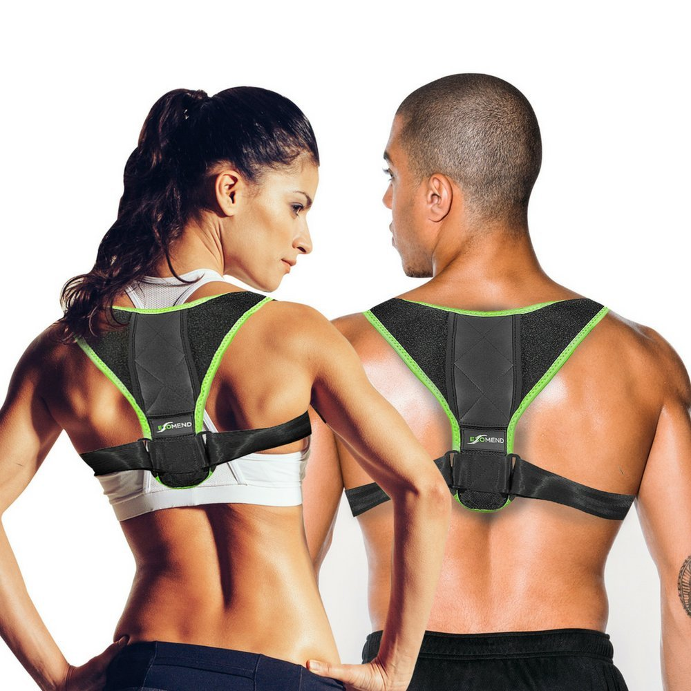 """ExoMend Posture Corrector for Men and Women - Shoulder, Back, Clavicle Support Brace - Fits Chest Size from 28"""" to 42"""""""
