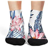 Tropical floral wild crew socks cool no show socks unique short for women ankle socks