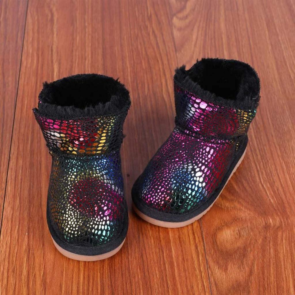 Baby Toddler Boys Girls Winter Snow Boots Warm Shoes 1-6 Years Old Kids Fashion High-Top Thicken Cotton Boots