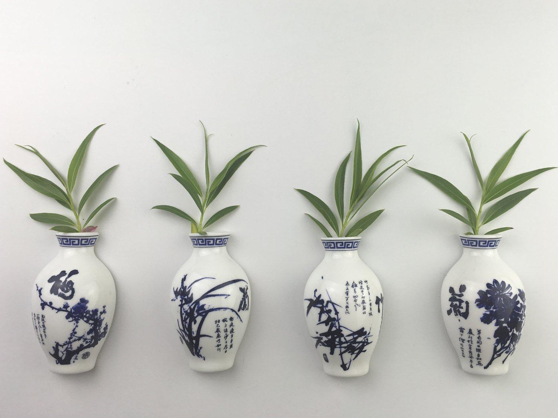 Amazon.com: Fridge Magnets, Grow Plants in Oriental Ceramics Vase ...