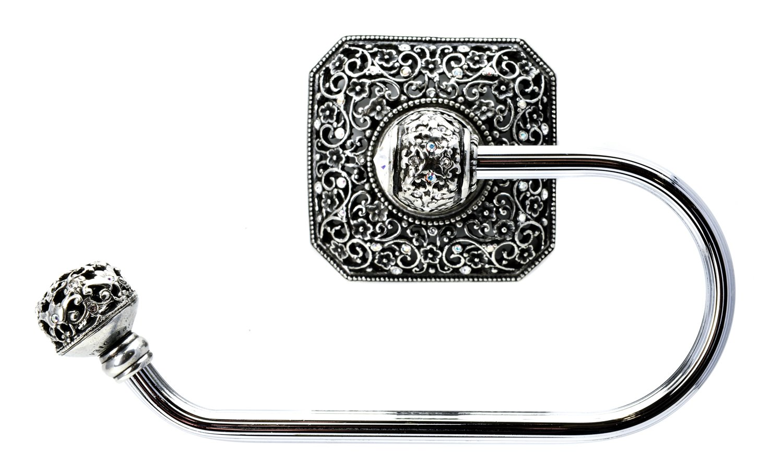 Carpe Diem Hardware 4056-9 Cab Juliane Grace Tissue Holder Left Made with Swarovski Elements, Chalice