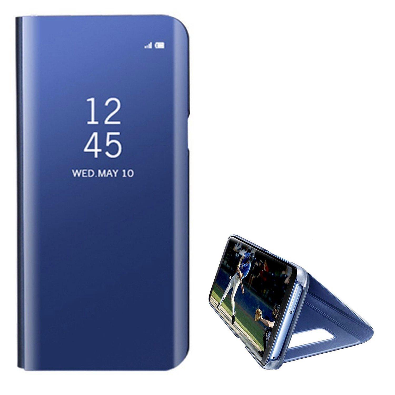 Hancda Schutzhülle für Huawei Mate 10 Lite, Spiegel Handyhülle Mirror Flip Case Bookstyle Leder Cover Standfunktion Hüllen