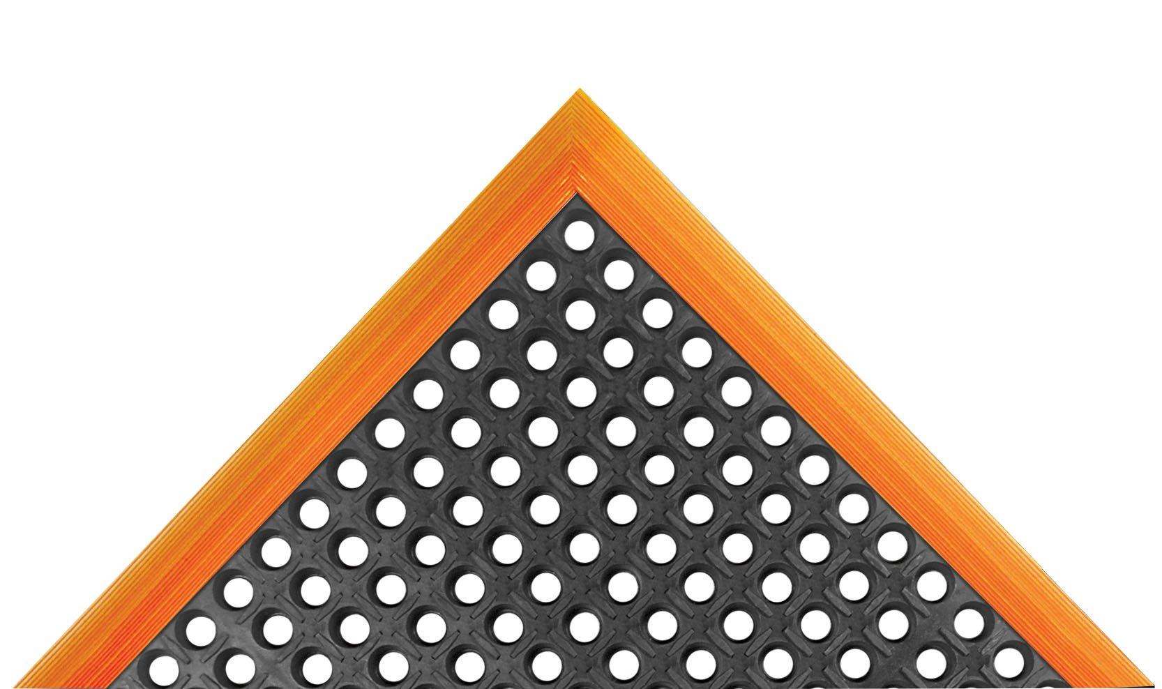 NoTrax Rubber 549 Safety Stance Anti-Fatigue Drainage Mat, for Wet Areas, 38'' Width x 40'' Length x 7/8'' Thickness, Black / Orange