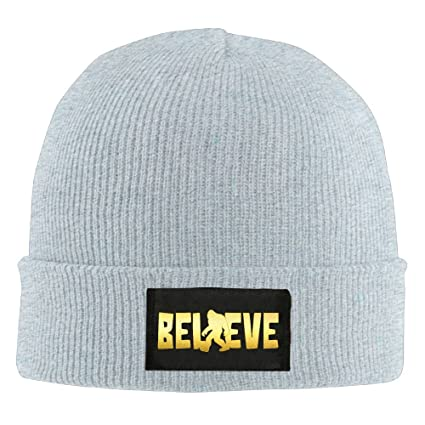 3832568df3a Bigfoot Believe Sasquatch I Believe Bigfoot Unisex Warm Winter Hat Knit  Beanie Skull Cap Cuff Beanie
