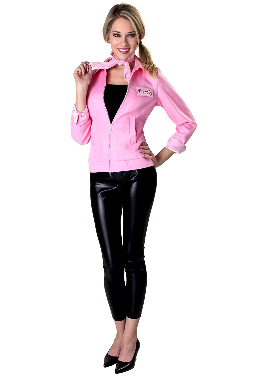 Authentic Grease Pink Ladies Jacket X-Small: Amazon.es: Ropa ...