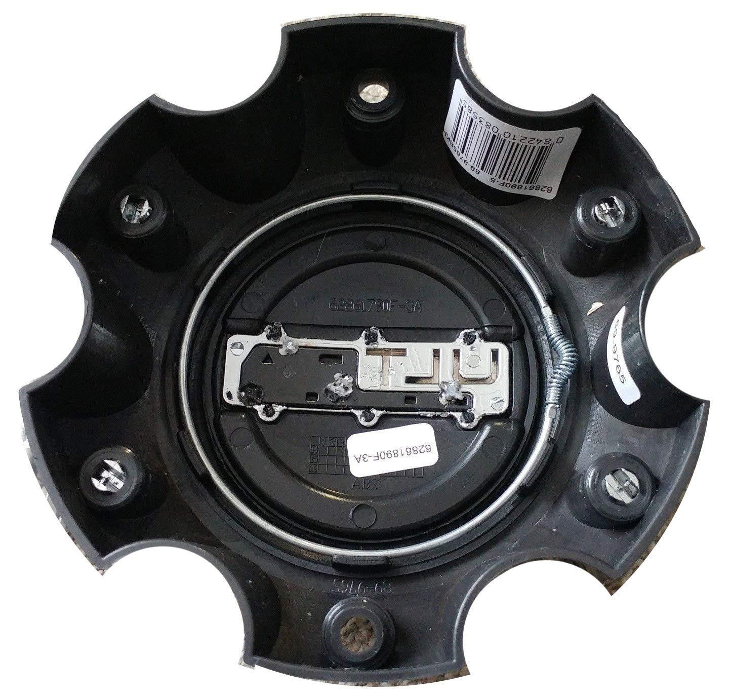 Ultra Motorsports 6 Lug Gloss Black Wheel Center Cap 89-9765BK Qty 1 Pn