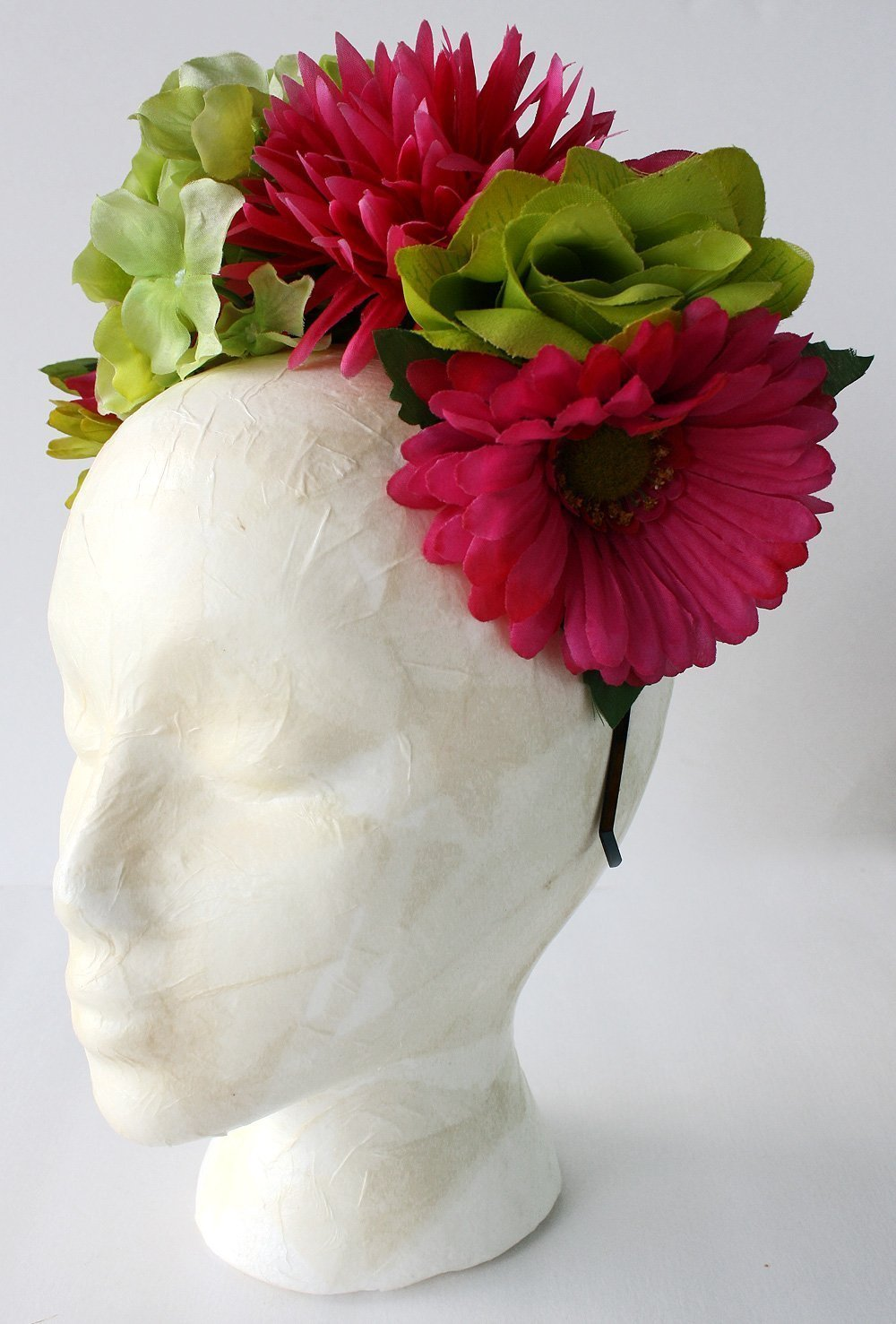 Amazon Mexican Flower Crown Pink Lime Green Frida Kahlo Day Of