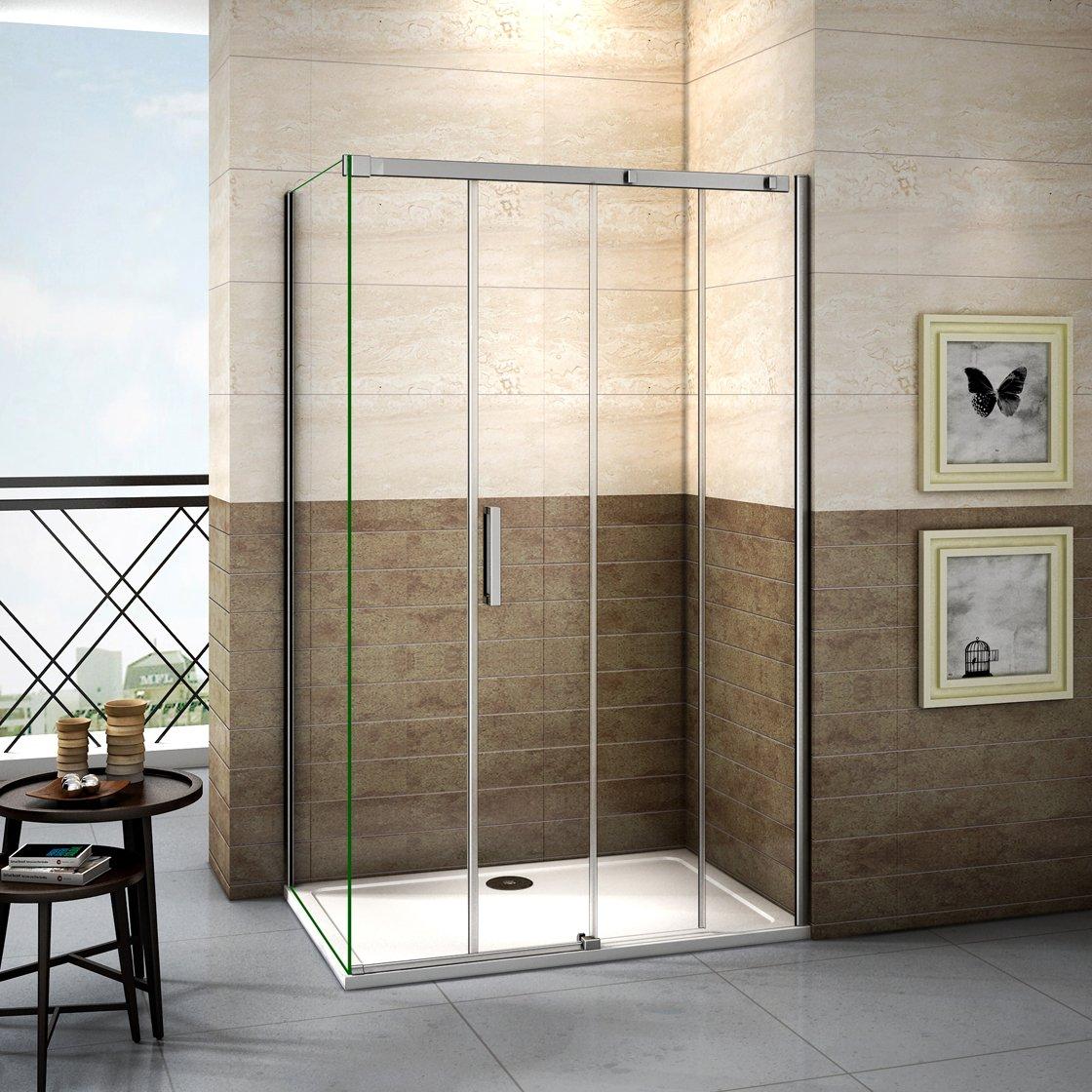 150x195cm Mamparas de ducha puerta de ducha 8mm vidrio templado de Aica