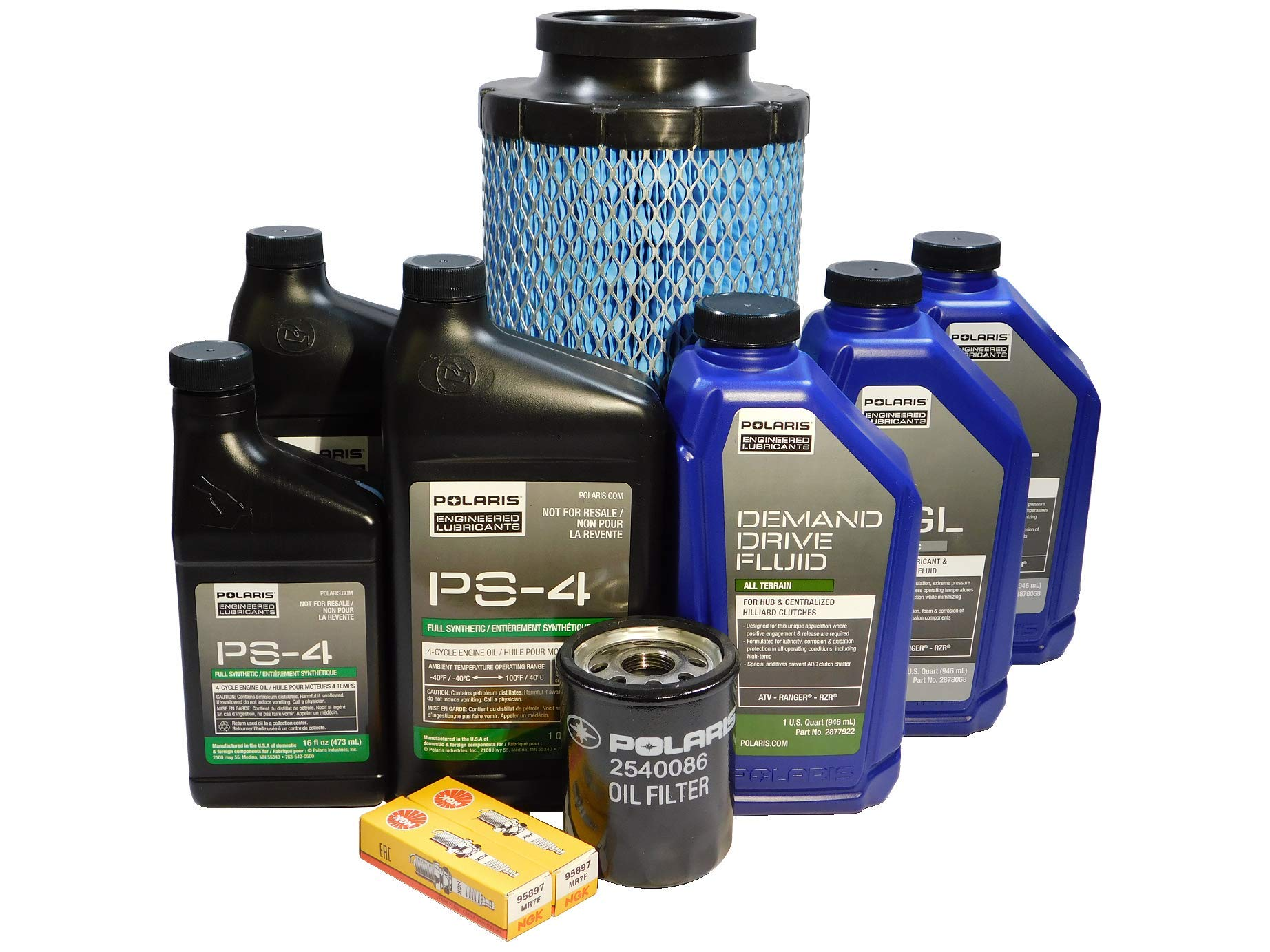 Polaris RZR 1000 XP OEM Complete Service Kit Oil Change POL07 by Powersports Authority (Image #1)