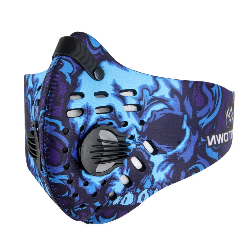 TOPSHION Dust Proof Riding Mask with Filtered Activated Carbon Filtration Exhaust Gas for Outdoor Sports Anti Pollen Allergy PM2.8 Half Face Mask