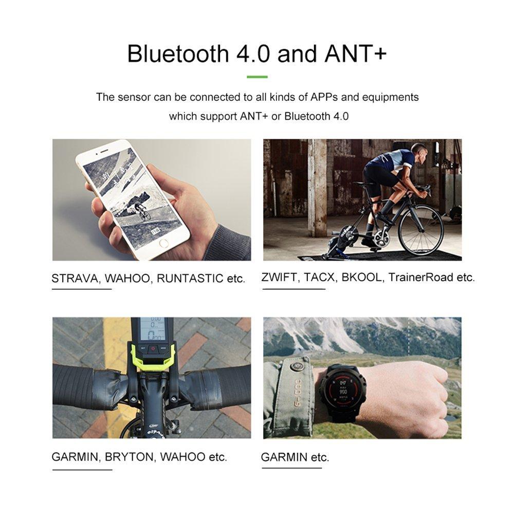 CYCPLUS Bike Speed Sensor and Cadence Sensor Wireless Bluetooth ANT+ for Garmin, Wahoo, Zwift, Sunnto, Tacx, Bkool, PerfPRO Studio, CycleOps, TrainerRoad Magnetless Waterproof 9.2g 300 Days Standby C3 by CYCPLUS (Image #7)