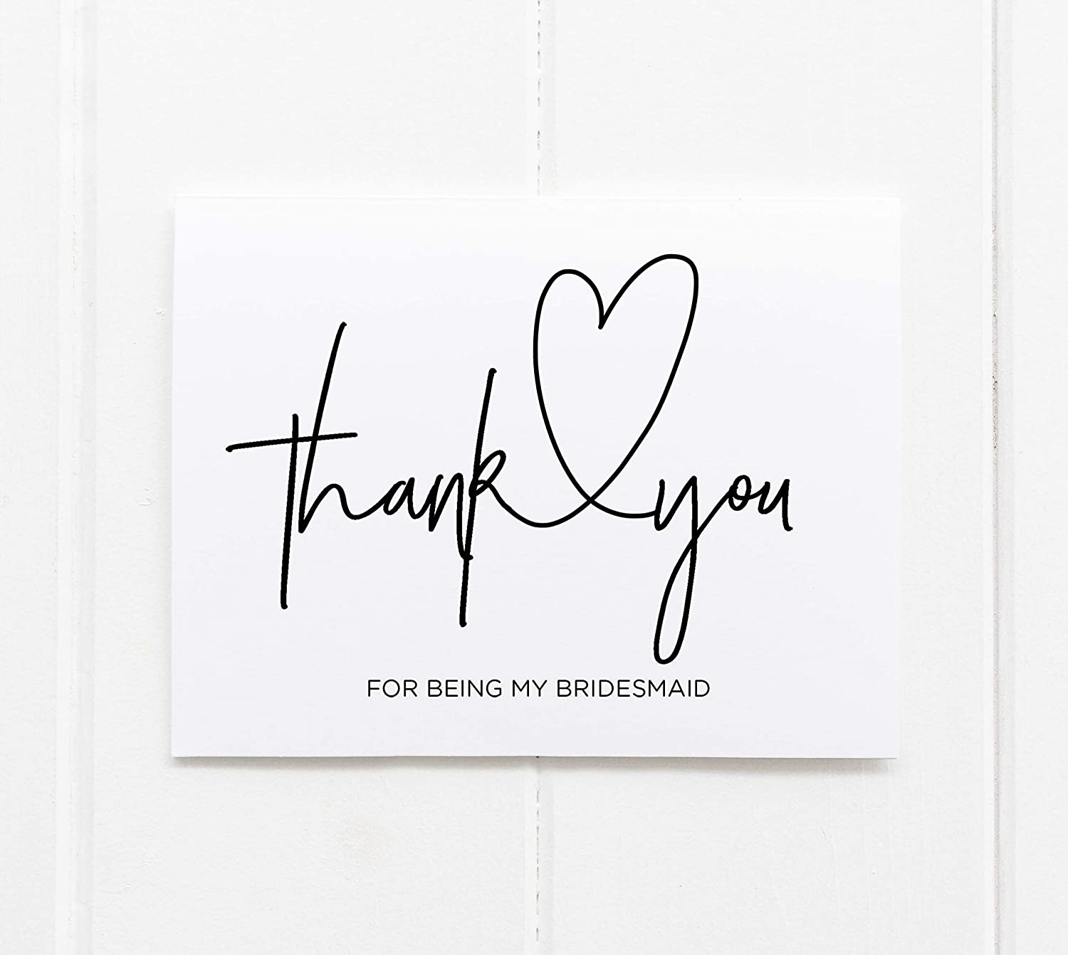 To My Bridesmaid Wedding Card 5x7 Printable To my Bridesmaid Wedding Card PLP -006 Wedding Thank You Card Floral Thank You Card