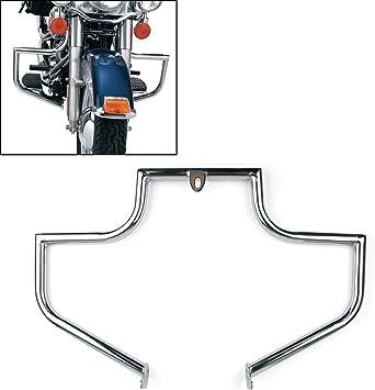 Fit 2000-2017 Harley Heritage Softail Fat Boy Mustache Engine Guard Crash Bar