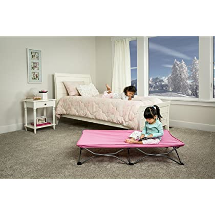 Pink Regalo My Cot Portable Toddler Bed Includes Fitted Sheet And Travel Case