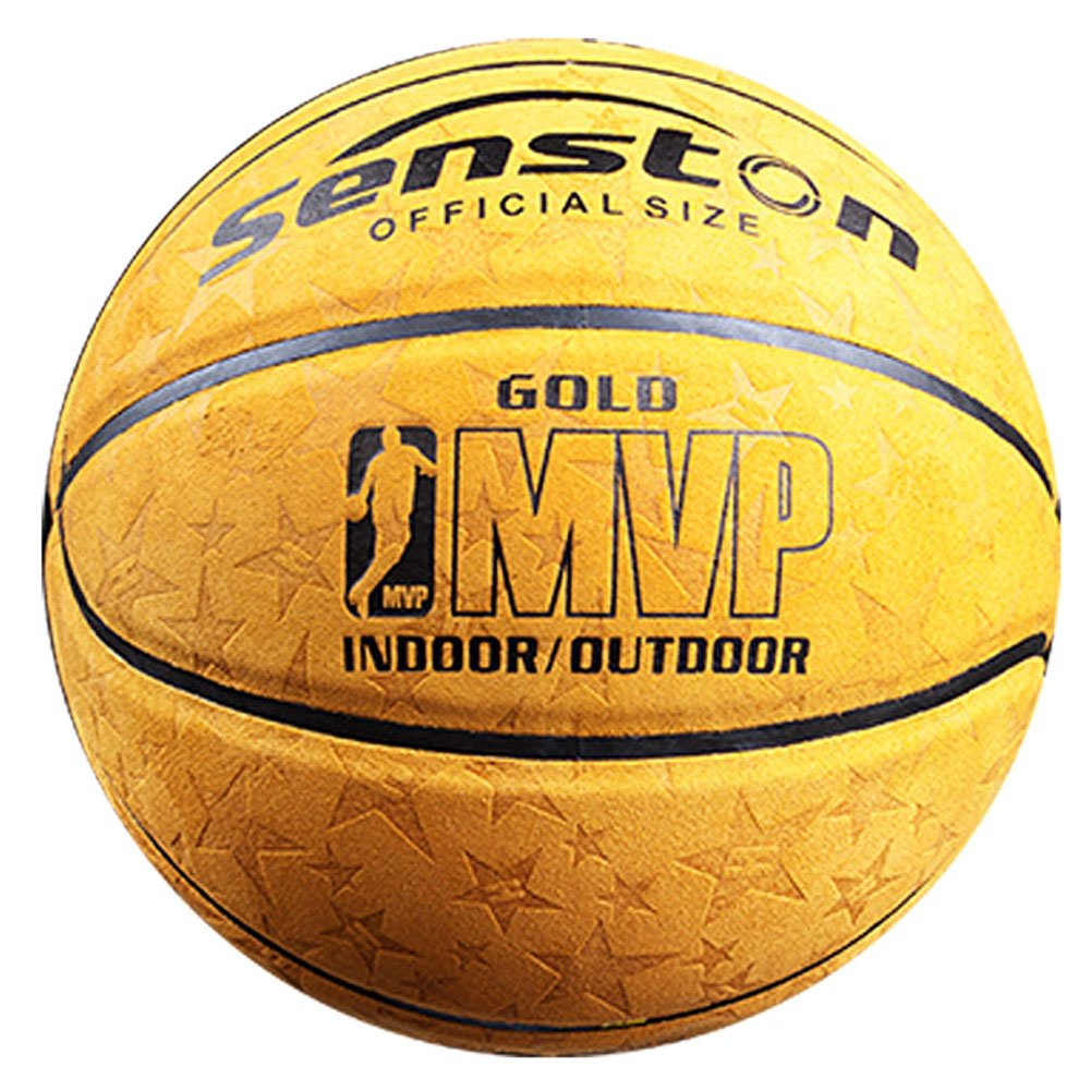 Senston 29.5 Basketball Outdoor Indoor Leather Basketballs Official Size 7 Game Basketball Ball Street Basketball with Net Needle
