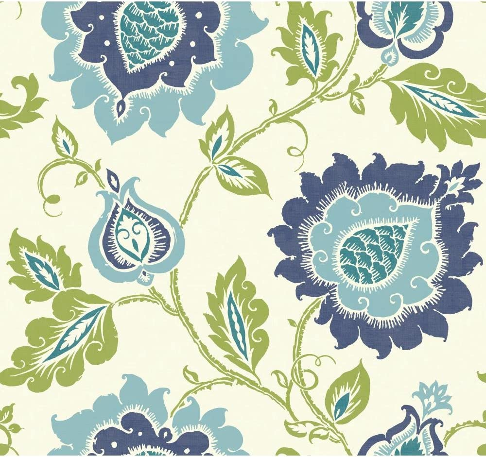 York Wallcoverings Carey Lind Vibe Jaco Floral Removable Wallpaper