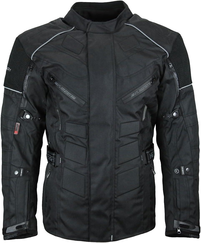 XXL HEYBERRY Herren Touren Motorradjacke Textil schwarz rot Gr