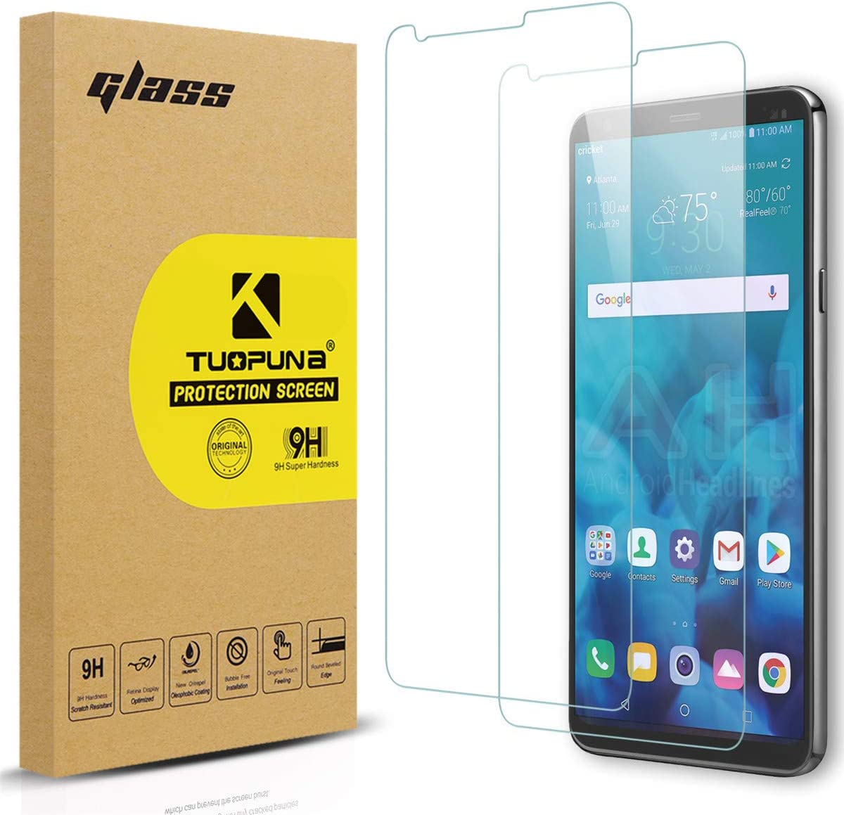 [2 Packs] LG Stylo 4 Screen Protector [Tempered Glass], Tuopuna 2.5D Arc Edges 9H Hardness HD Anti-Scratch Anti-Fingerprint AGC Glass Materials Screen Protectors For LG Stylo 4