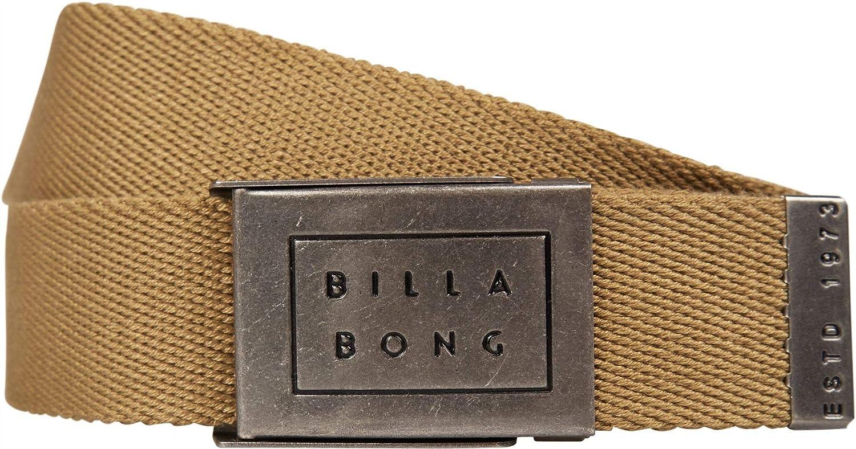 Billabong Woven Cotton Web Belt With Bottle Opener ~ Sergeant gravel