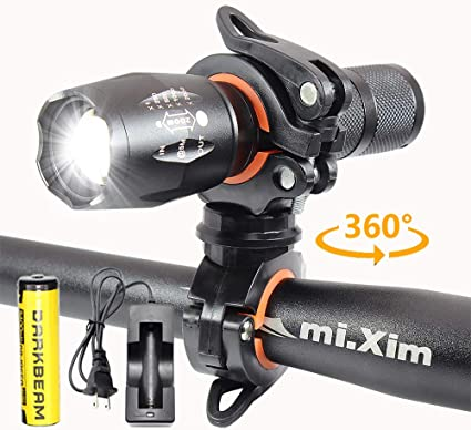 2-in-1 Rechargeable LED Torch Light /& Bike Front L Victagen Tactical Flashlight