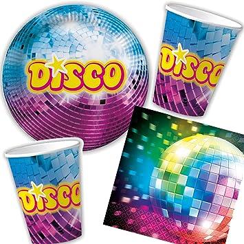 Juego de 33 Set de fiesta Discoteca para cumpleaños con + ...