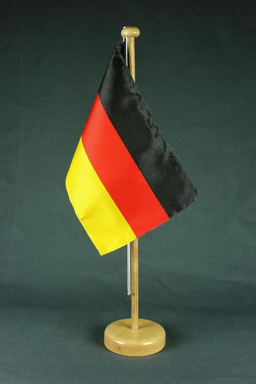 wahlweise mit oder ohne 42 cm Massivholz /Österreich Tischflagge 15x25 cm in Profiqualit/ät Tischst/änder