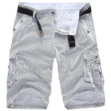 6c1426001fe4e Fuibo Vêtements Bermudas Homme ete Pas Cher, Bermudas Hommes Ete Outdoor  Cotton Casual Short Cargo
