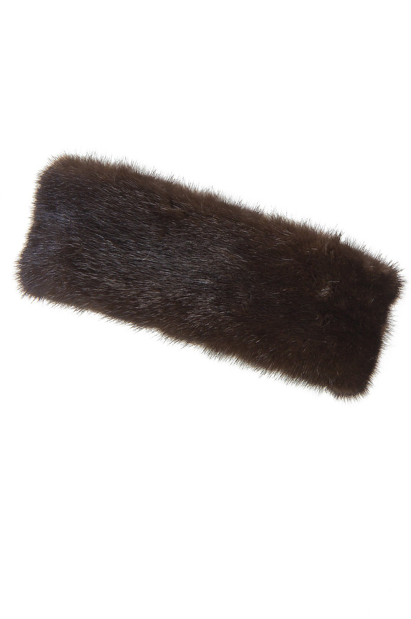 Mink Fur Headband, MAHOGANY, Size 1 Size by Overland Sheepskin Co (Image #1)