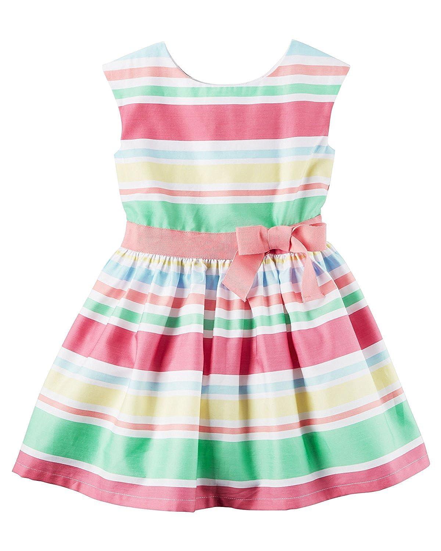 92fc593def90 Amazon.com  Carter s Toddler Girls  Sateen Striped Dress