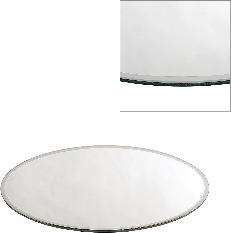 Piatti a specchio per centrotavola nuziali rotondi o quadrati da 20//25//30// o 50 cm. Vetro Silver 20 cm SQUARE