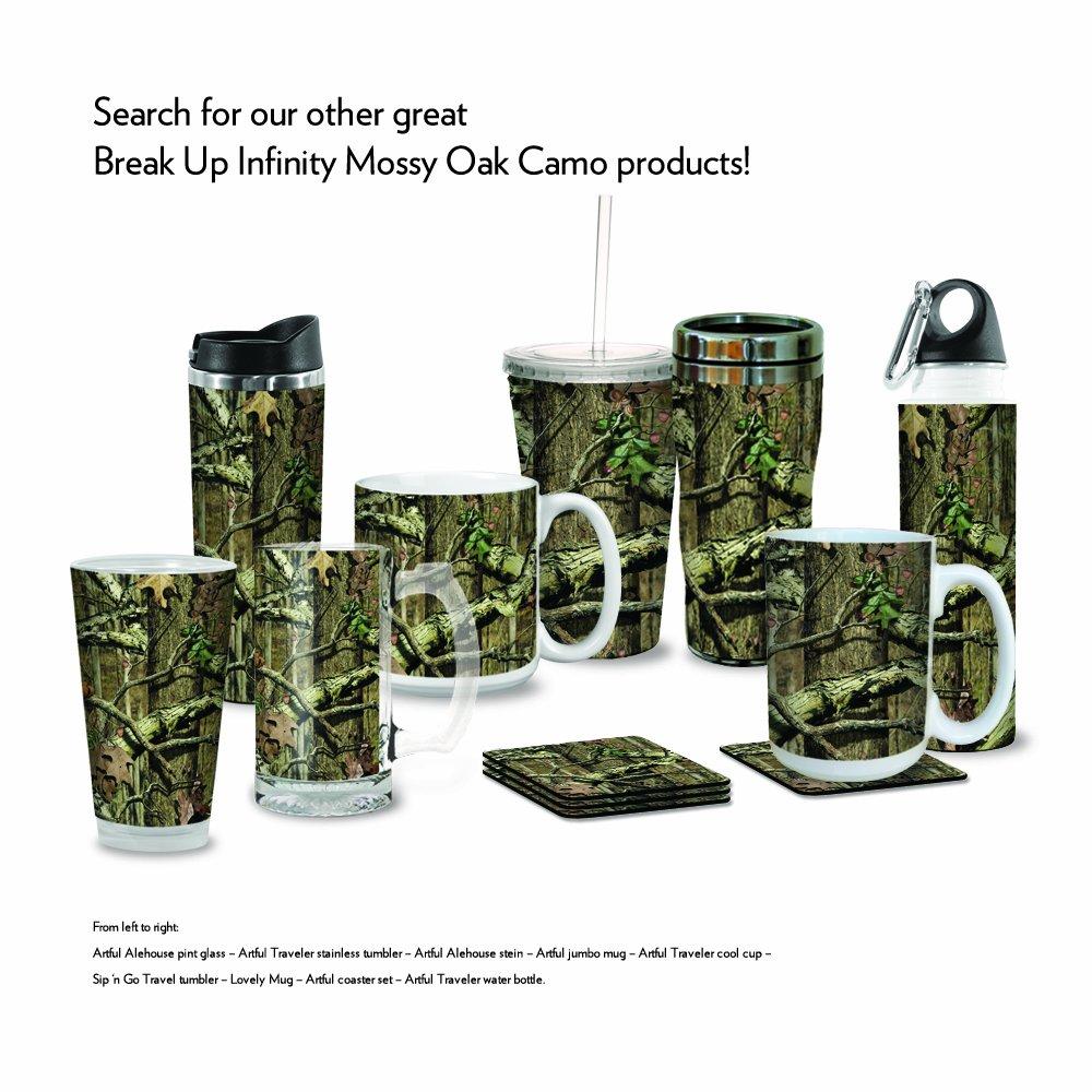 Tree-Free Greetings VB48972 Artful Traveler Stainless Water Bottle 18-Ounce Break Up Infinity Mossy Oak Camo