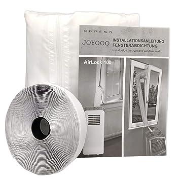 JOYOOO para aparatos de aire acondicionado portátiles Cubierta de ventana AirLock, Pantalla para evitar la