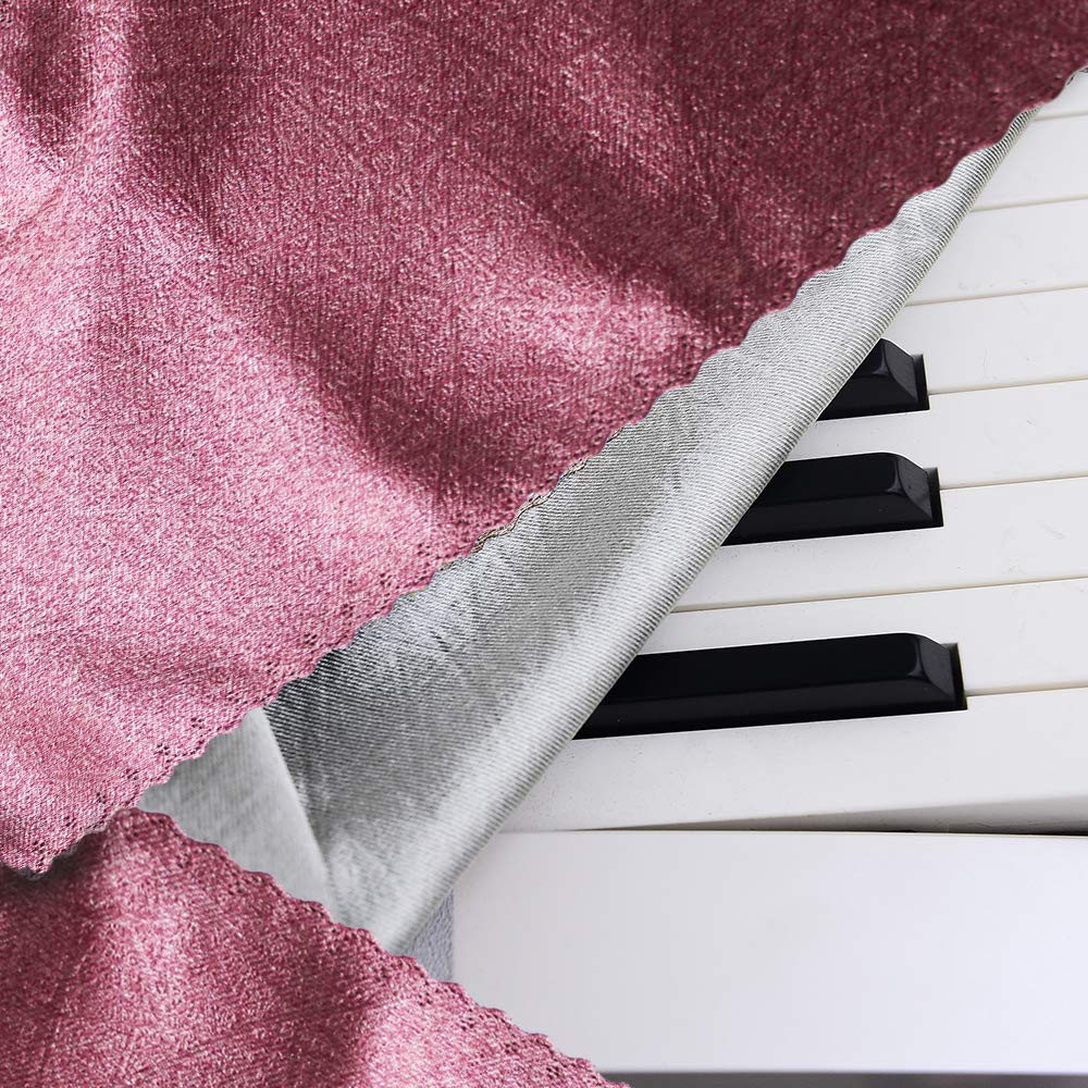 88 key keyboard Piano cover Piano Keyboard Cover 88 key piano cover piano dust cover Keyboards and Digital Pianos Anti-Dust(coffee)(violet) Three color silver gray Dimension: 53 11.4 5.1 in