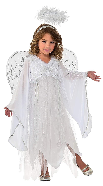 Doble Traje ángel de Plata Niños, L, it620874-l: Amazon.es ...
