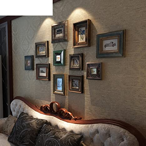 Caja de fotos vintage madera sólida/Portaretrato creativo continental/Pared marco-A A
