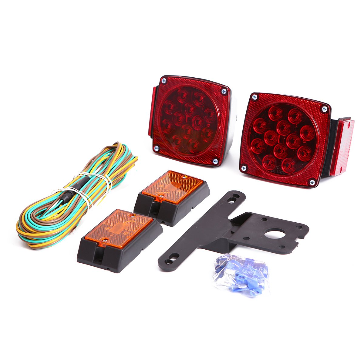 Czc Auto 12v Led Submersible Trailer Tail Light Kit For Source Assembly Motorcycle On Wiring Under 80 Inch Boat Rv Marine Automotive