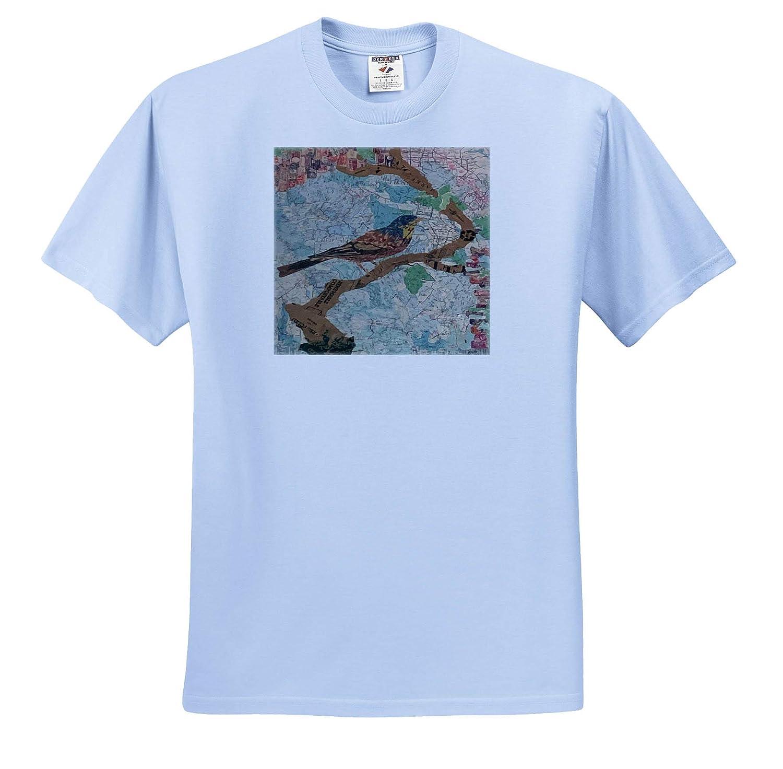 ts/_310932 Bird Map Adult T-Shirt XL 3dRose Marjesam-Art