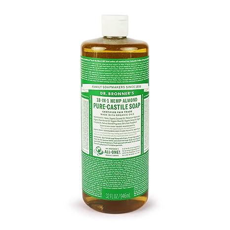 Dr Bronners Pure Magic-Castilla Jabón orgánico de almendra 32 oz