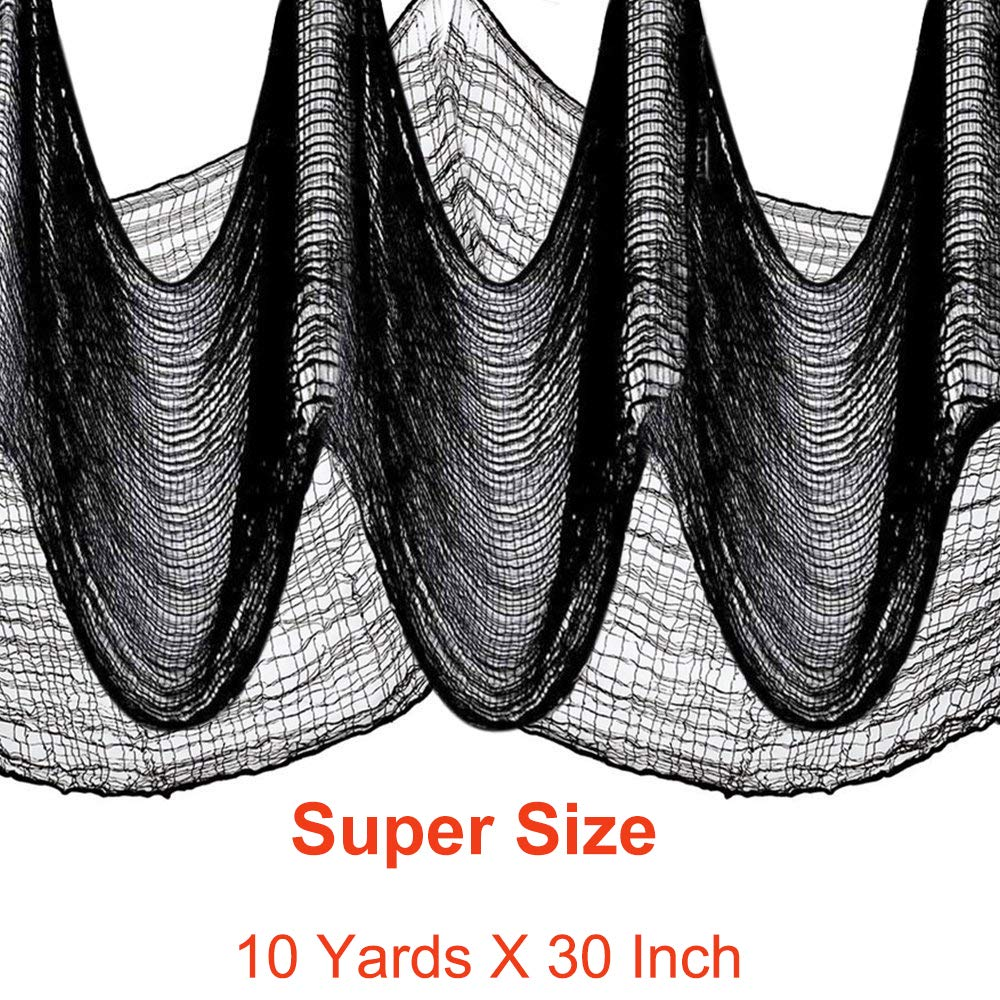 10 Yard X 30'' Halloween Creepy Fabric For Yard ,Porch, Window or Front Door Decoratio Light In Dark