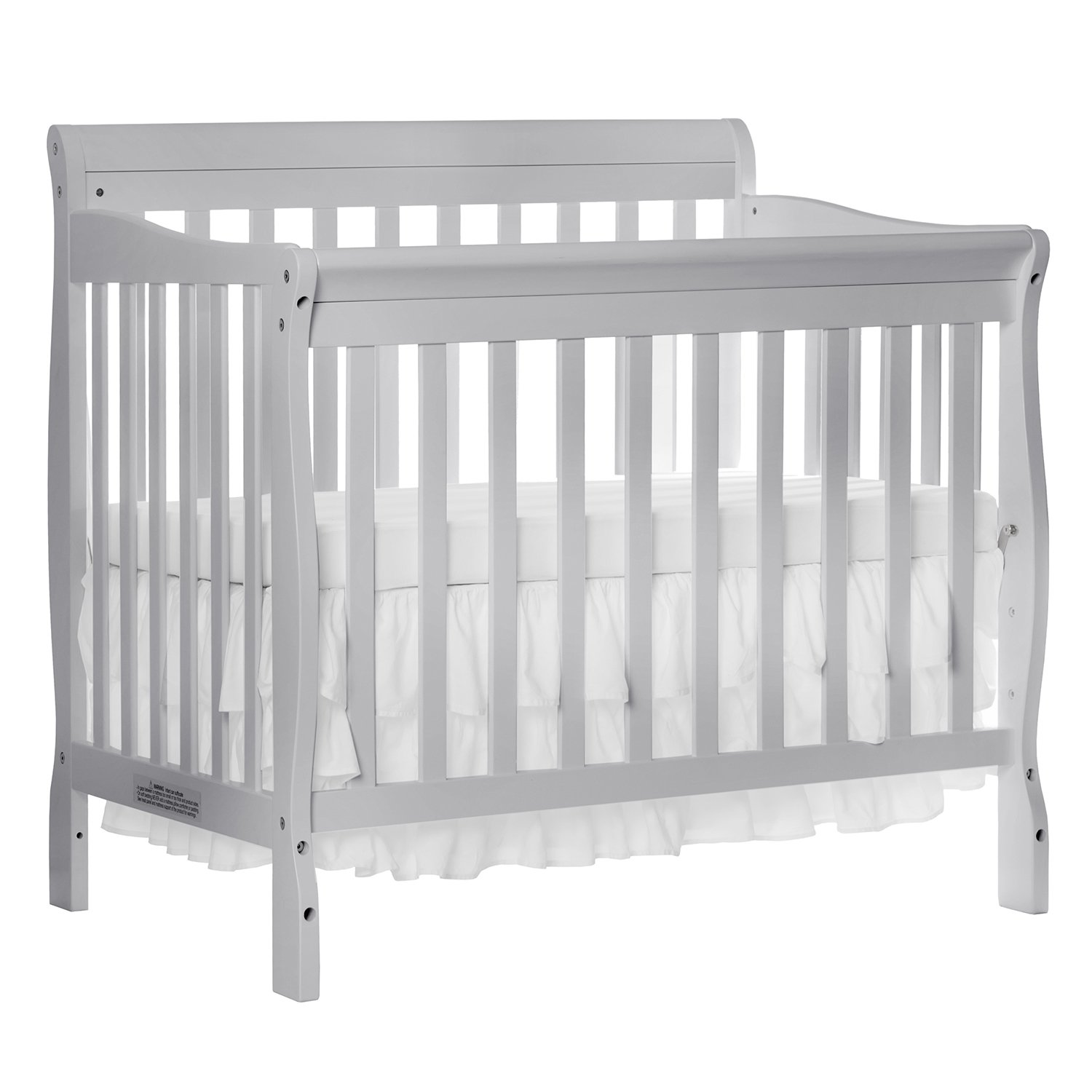 Amazon.com : Dream On Me Aden Convertible 4 In 1 Mini Crib, Grey : Baby