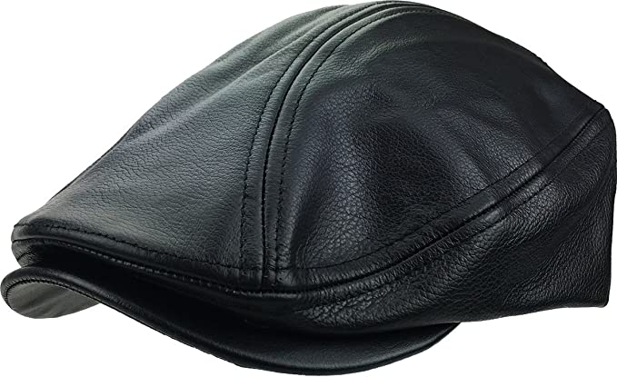 08745ebf6 Gatsby Ivy Collection Classic Newsboy Cabbie Applejack Leather Hats Caps