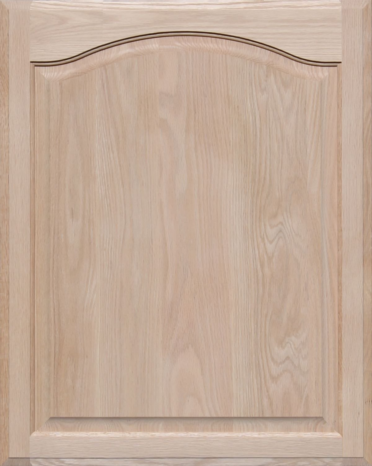 Unfinished Oak Arch Top Cabinet Door by Kendor, 30H x 24W