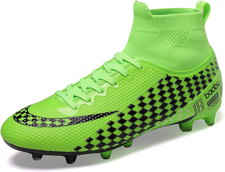 WOWEI Zapatos de F/útbol Hombre Spike Aire Libre Profesionales Atletismo Training Botas de F/útbol Zapatillas de Deporte