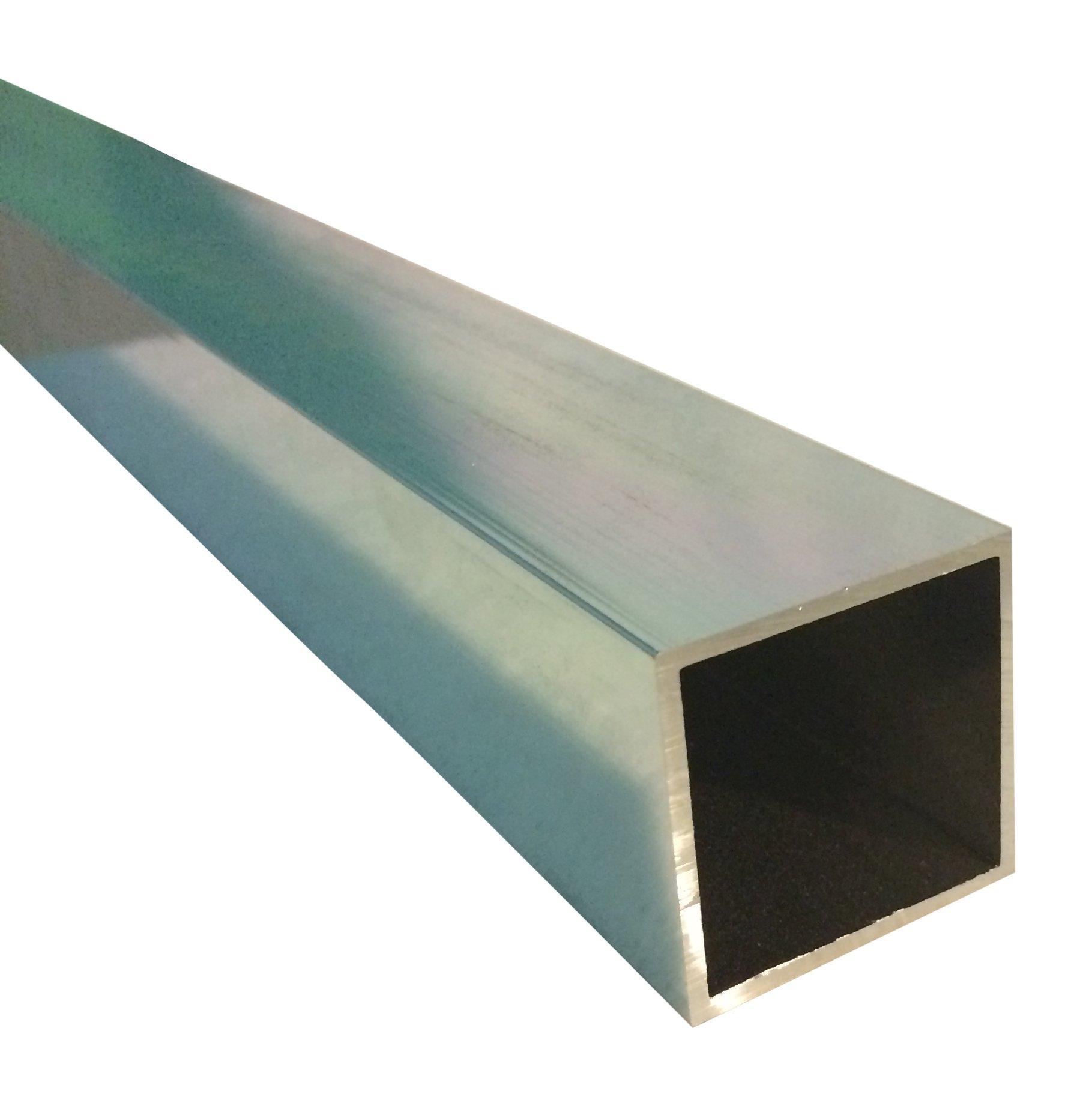 Sanymetal 13312 1 3/4'' Square Post x 70'' Aluminum Long Brite