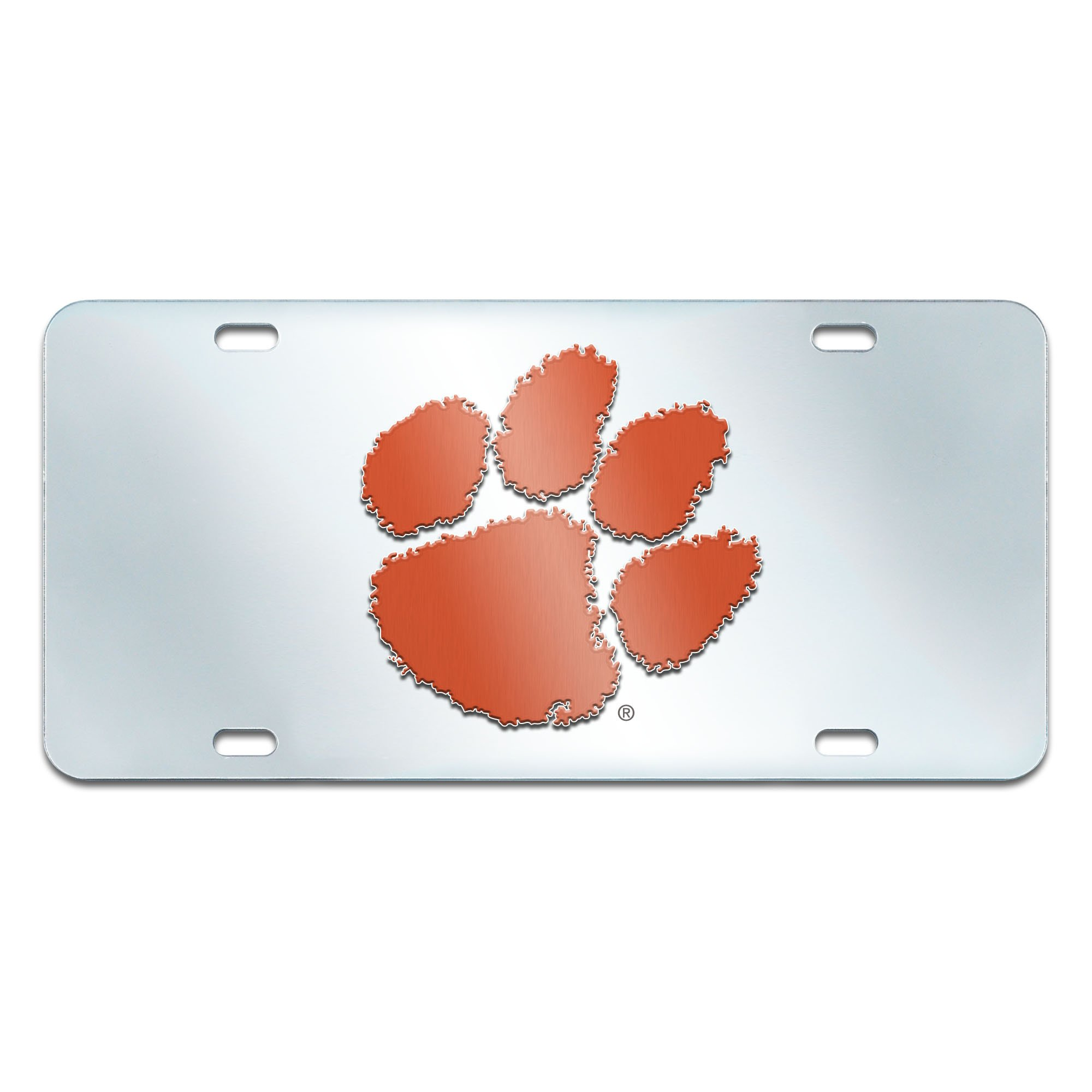 FANMATS NCAA Clemson University Tigers Plastic License Plate (Inlaid)