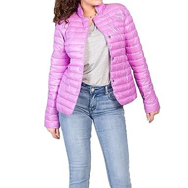 sale retailer 2bd07 2eae6 MForshop Piumino Donna Giubbotto Giubbino Giacca 100 Grammi Leggero No  Cappuccio pm-7623